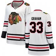 Fanatics Branded Chicago Blackhawks 33 Dirk Graham White Breakaway Away Women's NHL Jersey