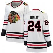 Fanatics Branded Chicago Blackhawks 24 Martin Havlat White Breakaway Away Women's NHL Jersey