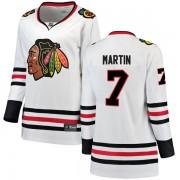 Fanatics Branded Chicago Blackhawks 7 Pit Martin White Breakaway Away Women's NHL Jersey