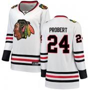 Fanatics Branded Chicago Blackhawks 24 Bob Probert White Breakaway Away Women's NHL Jersey