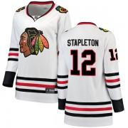 Fanatics Branded Chicago Blackhawks 12 Pat Stapleton White Breakaway Away Women's NHL Jersey