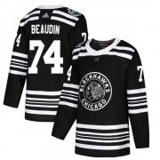 Adidas Chicago Blackhawks 74 Nicolas Beaudin Authentic Black ized 2019 Winter Classic Youth NHL Jersey