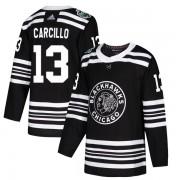 Adidas Chicago Blackhawks 13 Daniel Carcillo Authentic Black 2019 Winter Classic Youth NHL Jersey