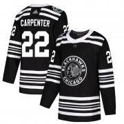 Adidas Chicago Blackhawks 22 Ryan Carpenter Authentic Black 2019 Winter Classic Youth NHL Jersey
