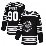 Adidas Chicago Blackhawks 90 Scott Foster Authentic Black 2019 Winter Classic Youth NHL Jersey