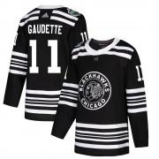 Adidas Chicago Blackhawks 11 Adam Gaudette Authentic Black 2019 Winter Classic Youth NHL Jersey