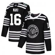 Adidas Chicago Blackhawks 16 Chico Maki Authentic Black 2019 Winter Classic Youth NHL Jersey