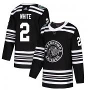 Adidas Chicago Blackhawks 2 Bill White Authentic White Black 2019 Winter Classic Youth NHL Jersey