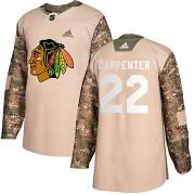 Adidas Chicago Blackhawks 22 Ryan Carpenter Authentic Camo Veterans Day Practice Youth NHL Jersey