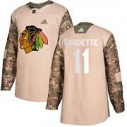 Adidas Chicago Blackhawks 11 Adam Gaudette Authentic Camo Veterans Day Practice Youth NHL Jersey