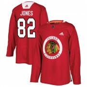 Adidas Chicago Blackhawks 82 Caleb Jones Authentic Red Home Practice Youth NHL Jersey