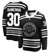 Fanatics Branded Chicago Blackhawks 30 Murray Bannerman Black 2019 Winter Classic Breakaway Youth NHL Jersey