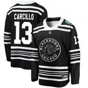 Fanatics Branded Chicago Blackhawks 13 Daniel Carcillo Black 2019 Winter Classic Breakaway Youth NHL Jersey