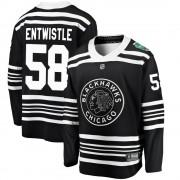 Fanatics Branded Chicago Blackhawks 58 Mackenzie Entwistle Black ized 2019 Winter Classic Breakaway Youth NHL Jersey
