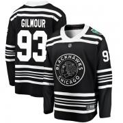 Fanatics Branded Chicago Blackhawks 93 Doug Gilmour Black 2019 Winter Classic Breakaway Youth NHL Jersey
