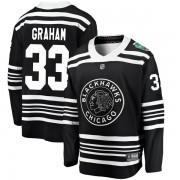 Fanatics Branded Chicago Blackhawks 33 Dirk Graham Black 2019 Winter Classic Breakaway Youth NHL Jersey