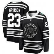 Fanatics Branded Chicago Blackhawks 23 Stu Grimson Black 2019 Winter Classic Breakaway Youth NHL Jersey