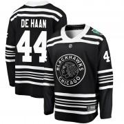 Fanatics Branded Chicago Blackhawks 44 Calvin de Haan Black 2019 Winter Classic Breakaway Youth NHL Jersey