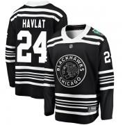 Fanatics Branded Chicago Blackhawks 24 Martin Havlat Black 2019 Winter Classic Breakaway Youth NHL Jersey