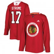 Adidas Chicago Blackhawks 17 Dylan Strome Authentic Red Home Practice Men's NHL Jersey