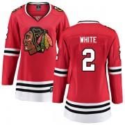 Fanatics Branded Chicago Blackhawks 2 Bill White White Breakaway Red Home Women's NHL Jersey