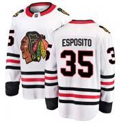 Fanatics Branded Chicago Blackhawks 35 Tony Esposito White Breakaway Away Youth NHL Jersey