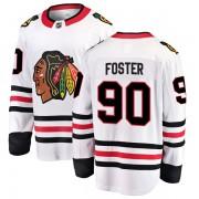 Fanatics Branded Chicago Blackhawks 90 Scott Foster White Breakaway Away Youth NHL Jersey