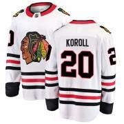 Fanatics Branded Chicago Blackhawks 20 Cliff Koroll White Breakaway Away Youth NHL Jersey