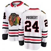 Fanatics Branded Chicago Blackhawks 24 Bob Probert White Breakaway Away Youth NHL Jersey