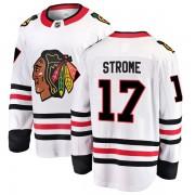 Fanatics Branded Chicago Blackhawks 17 Dylan Strome White Breakaway Away Youth NHL Jersey