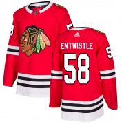 Adidas Chicago Blackhawks 58 Mackenzie Entwistle Authentic Red ized Home Youth NHL Jersey