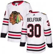 Adidas Chicago Blackhawks 30 ED Belfour Authentic White Men's NHL Jersey